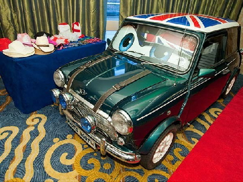 Austin mini car photo booth  hire