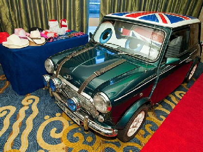 Mini photo booth hire Shropshire, Jasper, our classic Mini Cooper photo booth for hire in Shropshire